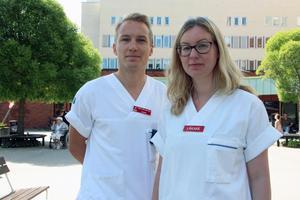 De ser ett intresse bland unga läkare för förändring efter #metoo. Simon Mellerstedt och Erica Nordén, Läkarförbundet, ordnar ett medlemsmöte på temat på onsdag.