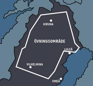 Karta: Norrbottens flygflottilj F 21
