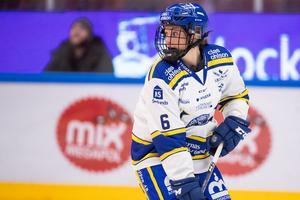 Maddie Rolfes, back, anlände sent till Leksand och har spelat de fyra senaste matcherna. Foto: Daniel Eriksson/Bildbyrån.