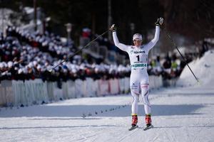 Charlotte Kalla med nytt guld i SM-veckan. Bild: TT