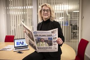 Helena Nyman, chefredaktör Södra Dalarnes Tidning.