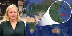 Ina Lindström Skandevall (L) riktar skarp kritik mot resan. Bilder: Fredrik Söderberg och Google