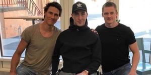 Jon Knuts, Tobias Forsberg och Martin Karlsson i återträffen förra veckan. Foto: Tobias Forsbergs Instagram.
