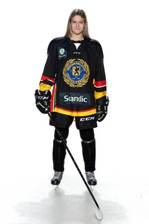 Foto: Lars-Åke Johansson/Södermanlands  Ishockeyförbund. Linnea Adelbertsson.