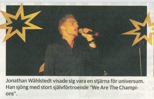 Publicerat i ÖA från stjärnkvällen i februari på Brux då sexton sångare fick chansen att sjunga till Ö-viks storband.