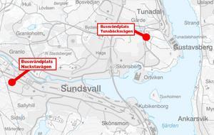 Karta: Sundsvalls kommun