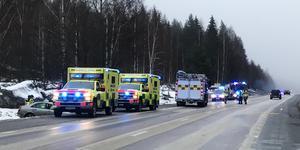 Olyckan inträffade vid 08.25 på torsdagsmorgonen.