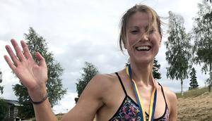 Johanna Bygdell, suverän i damklassen. Foto Enar Modigh.