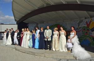 Solen sken över lördagens fest- och bröllopsmässa i Timrå.