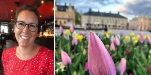 Linda Lantz tog förra månadens bästa bild på tulpanhavet vid Stora torget i Köping.