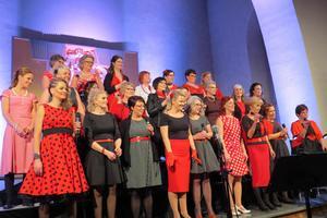 Det blev många klädbyten under konsertkvällen. Foto: Walters Börje Edénius.