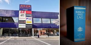 Kvinnan åtalas för totalt sju stölder – varav fyra ska ha skett på apoteket i Avesta galleria. Foto: Martin Wik/Arkiv & Jessica Gow/TT