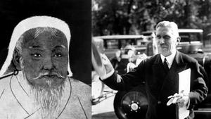 Djingis Khan och Franz von Papen, två historiska personer som kommit upp i den politiska debatten den senaste veckan.