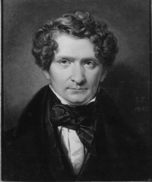 Adolf Fredrik Lindblad 1801-1878 (målad av  porträttmålaren Johan Gustaf Sandberg, Nationalmuseum).