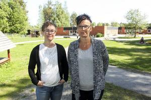 Förskollärarna Monica Tuohimaa och Pia Lindestam har tröttnat på att mötas av förstörelsen.