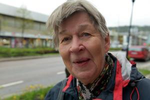 Greta Lindgren, Örnsköldsvik: – Jag tycker inte om tiggeri. Det ger mig dåligt samvete. Men självklart tycker jag synd om människorna, särskilt unga tjejer och killar.