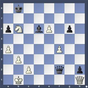 Lösning: 1.Da8+ Kc7 2.Sd5.