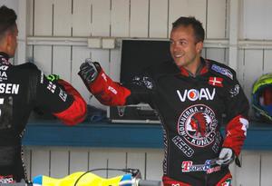 Kenneth Bjerre firar storsegern mot Lejonen.