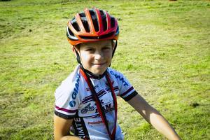 Nöjd deltagare, Hugo Palmberg, 11, från OK Hammaren.