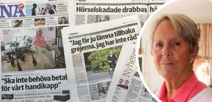 Birgitta Tell är en av många funktionshindrade som får betala abonnemang för sina hjälpmedel från årsskiftet. Nu överklagar hon med stöd av Hörselskadades riksförbund regionens beslut.