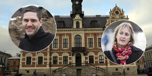 Montage. Marie Nordmark och Mikael Reijer av två av de fyra kandidaterna som har presenteras av rekryteringsfirman till tjänsten som kommunchef i Söderhamn.