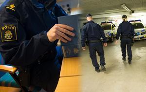 Polisförbundet vill att Uppsalapolisernas arbetssätt, som innebär mer tid i yttre tjänst och mindre tid vid datorn, ska spridas till resten av landet. Bild: Fredrik Sandberg/TT