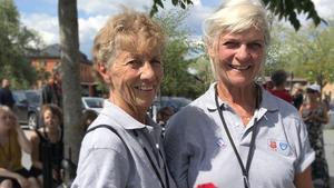 Eivor Gren och Christina By från Örebro Kulturella förening är volontärer på Nordlek 2018.
