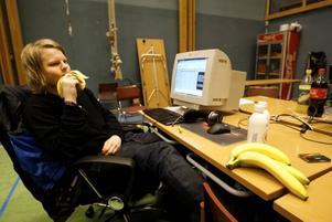 Inte hacka. Rasmus Hedman påpekar att man måste ha ordentlig utrustning och att datorn inte får hacka.