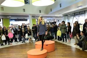 Miljömedvetet mode visades i Falan Gallerian i lördags.