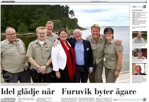 Sommaren 2010 var det glada miner i Furuviksparken, när Park & Resorts köpte parken. Från höger: Ing-Marie Persson, Tom Widorson och Jan Roy.