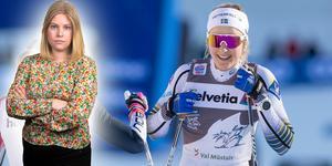 Stina Nilsson vid ett tidigare tillfälle, men även idag hade hon all anledning att jubla. Bilden är ett montage.