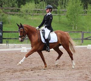 Clara Jonsson och Hedemand's Aurora från Föreningen Bollnäs Sportryttare fick till en fullträff i helgen. Foto: Elsa Nordström (Bilden är tagen i ett annat sammanhang)