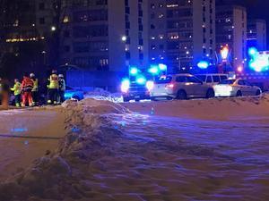 Två personbilar var inblandade i en trafikolycka i Borlänge under lördagseftermiddagen. Foto: Läsarbild
