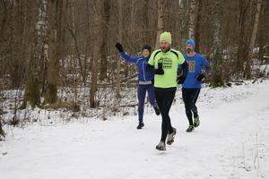 Hurtiga löpare i Sörbyskogen.