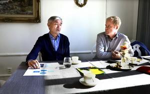 Peter Schmid och platschefen i Timrå Harald Larsson har dragit upp planerna inför framtiden.