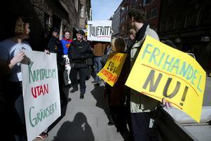 En viktig protestdemonstration i Stockholm. Foto: Bertil Ericson/Scanpix