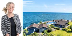 Fastighetsmäklaren Sophie Broström har ansvarat över försäljningen av  huset på Kvarnuddevägen 14. Foto: ERA/Fisheye foto