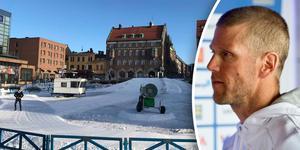 Ola Rawald är tävlingsledare för de två sprinttävlingar som kommer att arrangeras på Stortorget i Östersund. Foto: Sanna Svanebo/TT