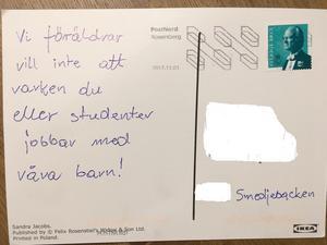 I början av november fick läraren det första vykortet i sin brevlåda.Foto: Smedjebackens kommun