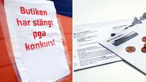 Rekordsommar i Sverige – för konkurser.Johan Nilsson/Scanpix, Henrik Holmberg/TT.