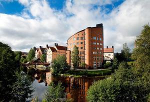 Åkroken var den ursprunliga platsen för staden Sundsvall. Nu är det Mittuniversitetet som ligger här. Foto: Arkiv/Mårten Englin