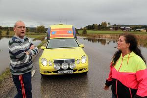 2013 stoppades trafiken när Riks 90 i Kyrkdal svämmade över efter skyfallen då.
