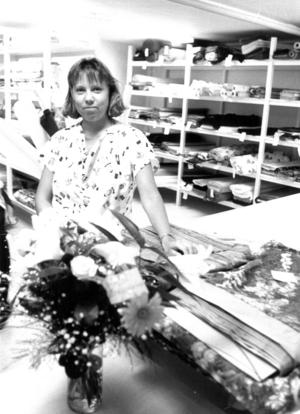 Ann Marie Johansson, som drev tygbod, tyckte att det nya torget var ett lyft för affärslivet i Svenstavik.