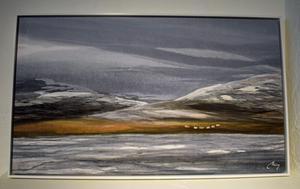 """""""Fjällvärld"""" av Meg Ersbacken-Engman."""
