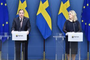 13.15: Statsministern och flera ministrar håller pressträff – få senaste nytt här