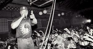 Public Enemy uppträder i Slagthuset i Malmö  1991. Foto: Jonn Leffmann