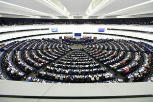 Plenum i EU-parlamentet i Strasbourg.