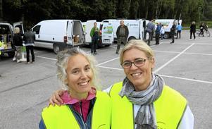 Malin Pettersson och Jennie Johansson är administratörer för Reko-ring Gävle. En gång i  månaden träffas producenter och konsumenter på Fjällbackens parkering.