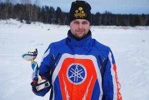 Kalle Lindahl var nöjd med sitt silver. FOTO: KURT ELIASSON