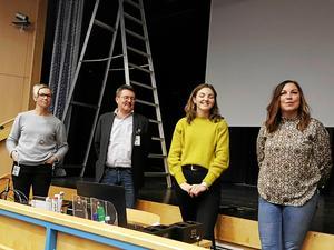 Rein Florell, Camilla Andersson, Rebecca och Charlotte Nordin pratade om olika delar av att leva med diabetes.